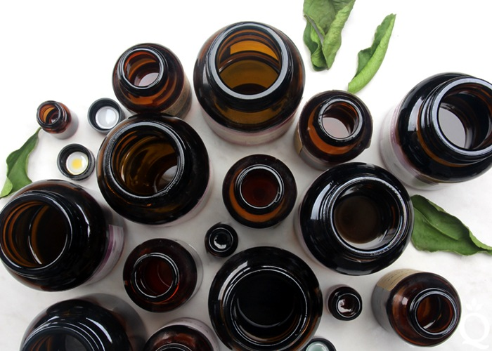 Essential Oils Bottles Viewed From Above