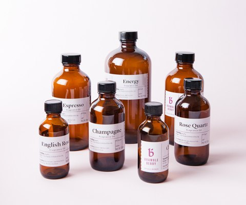 bottles of fragrance oil