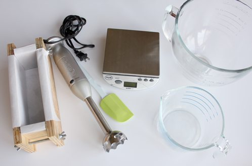 Tools for cold process soap