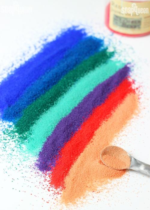 Various colors of jojoba beads