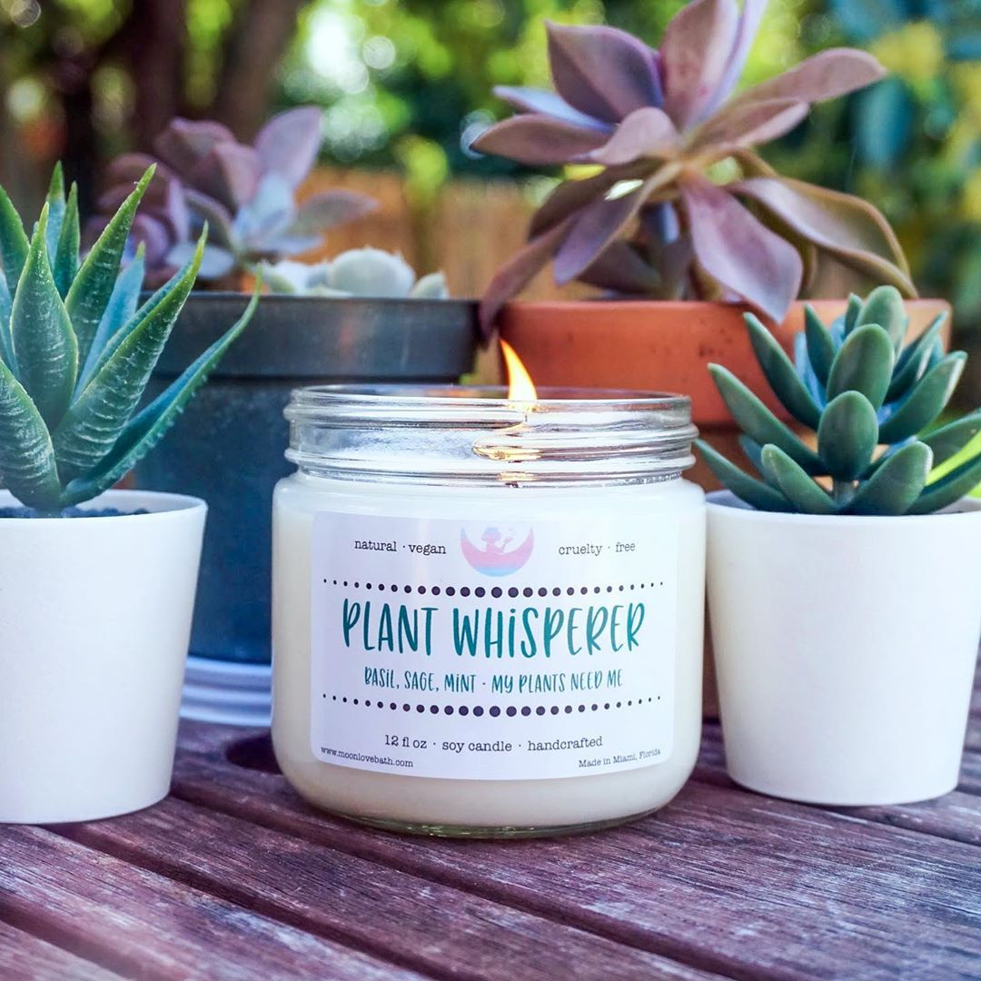 plant whisperer candle by moon love bath