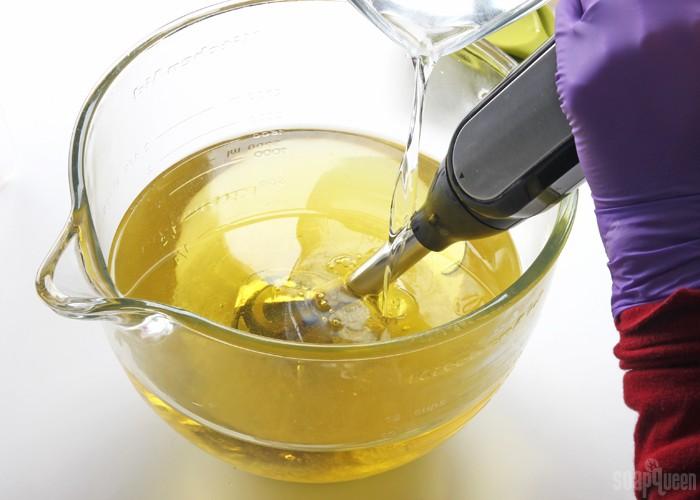 add lye water to oil