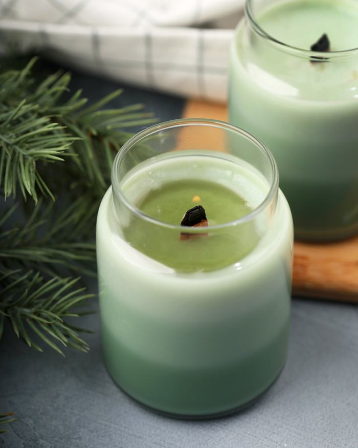 Frosted Fir Layred Candle | Bramble Berry